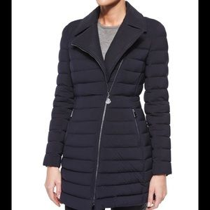Moncler Quilted Asymmetrical  Puffer Coat